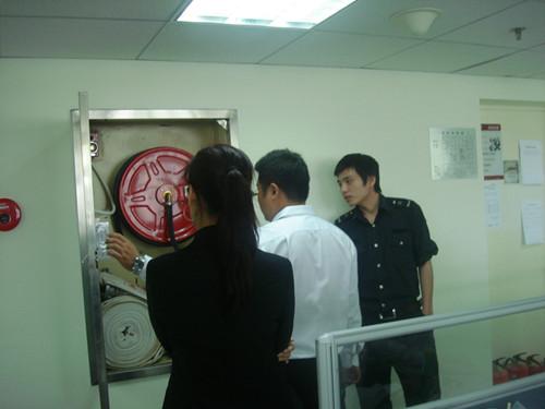 """物业公司组织""""国庆节""""节前消防安全检查"""